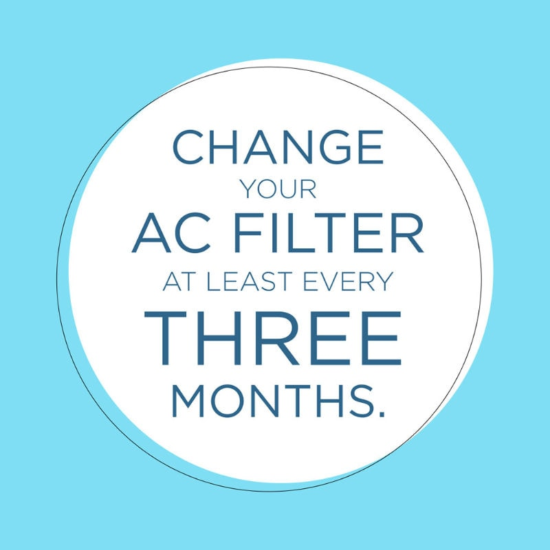 Change AC Filter Every 3 Months
